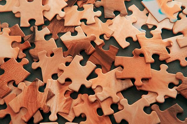 Brown Wooden Puzzle pieces