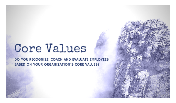 Core values statement with mountains