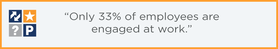 Only 33% of employees are engaged at work quote box