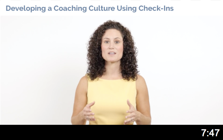 Develop a Coaching Culture using Check-ins video thumbnail