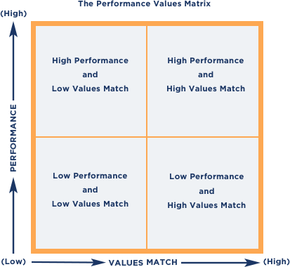 Performance-Values Matrix graph